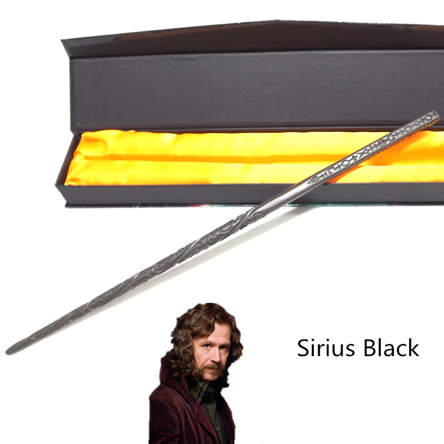 high quality gift box packing sirius black magic wand metal core magic wand for kids cosplay