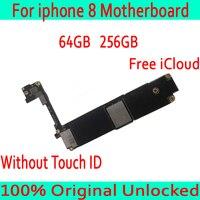 64 ГБ 256 оригинальный разблокирована для iphone 8 материнская плата без Touch ID, для iphone 8 Mainboard с бесплатной iCloud, 100% Протестировано