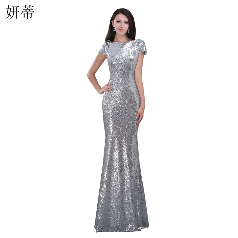 sparkly sequin mermaid long evening dress 2015 2016 new
