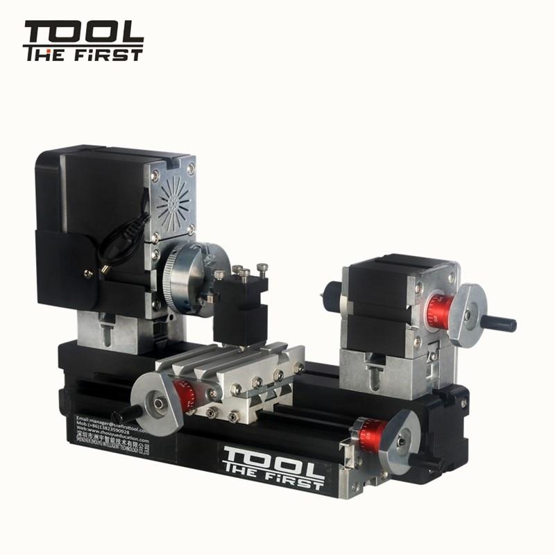 12000r / minの強力な60WモーターDIYツールChrildrenのギフトの工作機械が付いている金属の余分Hignの小型旋盤機械TZ20002MG