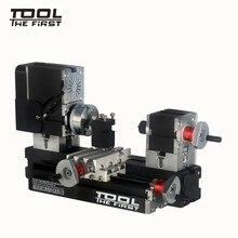 Thefirsttool Mini torno de Metal TZ20002MG, máquina B con Motor de 12000r/min de 60W, radio de procesamiento más grande, herramientas de bricolaje, regalo para niños