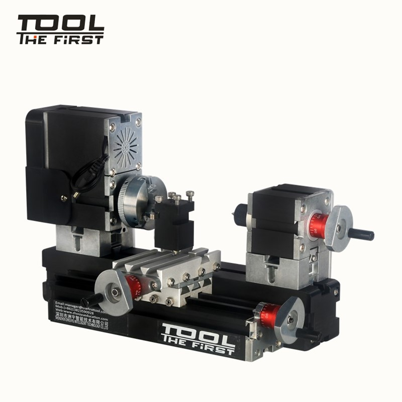 Thefirsttool TZ20002MG Mini Metal Lathe B Machine with 12000r/min 60W Motor Larger Processing Radius DIY Tools Chrildren's Gift