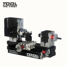 Thefirsttool tz20002mg mini torno de metal b máquina com 12000r/min 60 w motor maior raio de processamento diy ferramentas presente de chryldren