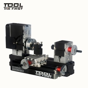 Image 1 - Thefirsttool tz20002mg mini torno de metal b máquina com 12000r/min 60 w motor maior raio de processamento diy ferramentas presente de chryldren
