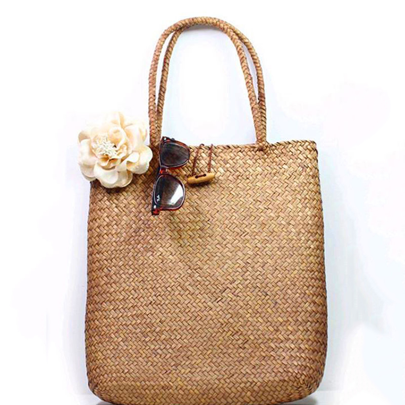Women Fashion Designer Lace Handbags Tote Bags Handbag Wicker Rattan Bag Shoulder Bag Shopping Straw Bag 5