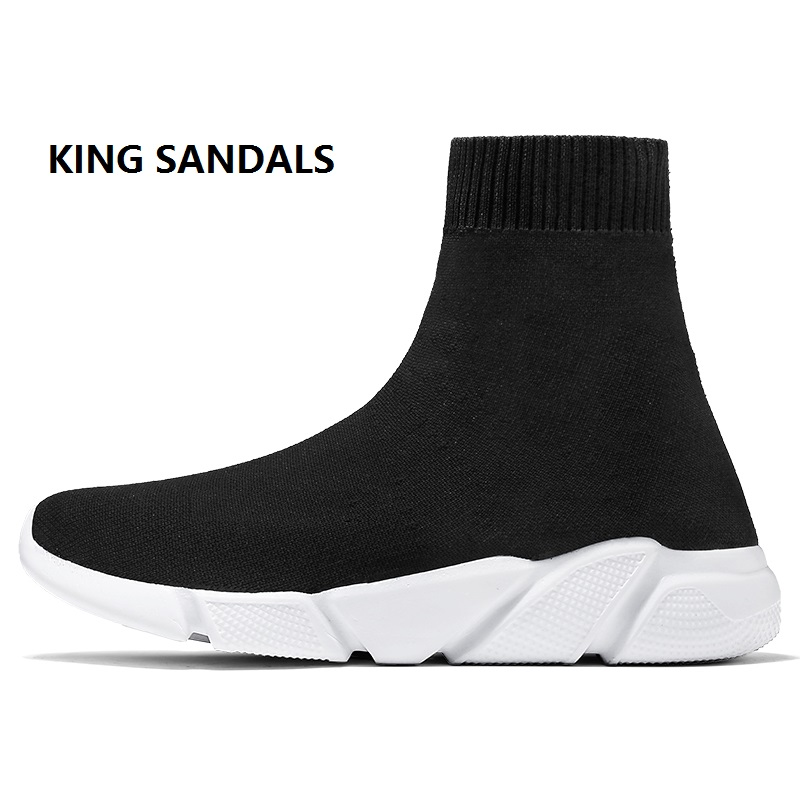 Breathable Summer Ankle Boot Women Waterproof Socks Shoes Woman Sneakers Elasticity Wedge Platform Lovers Shoes Biger Size 29 47