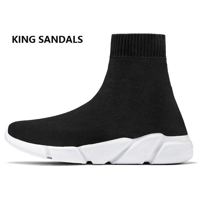 Verano transpirable botines mujeres calcetines impermeables Zapatos mujer  Zapatillas elasticidad cuña plataforma amantes tamaño Biger 29 5abe0ad8113b