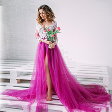 Long Sleeve V neck Lace Formal Pregnant Women party See Through royal Blue Evening Dresses gowns Plus Size 2017 robes de soiree sexy see through long sleeve handmade rose flower evening dresses for pregnant women ruffles long party arabic robe de soiree