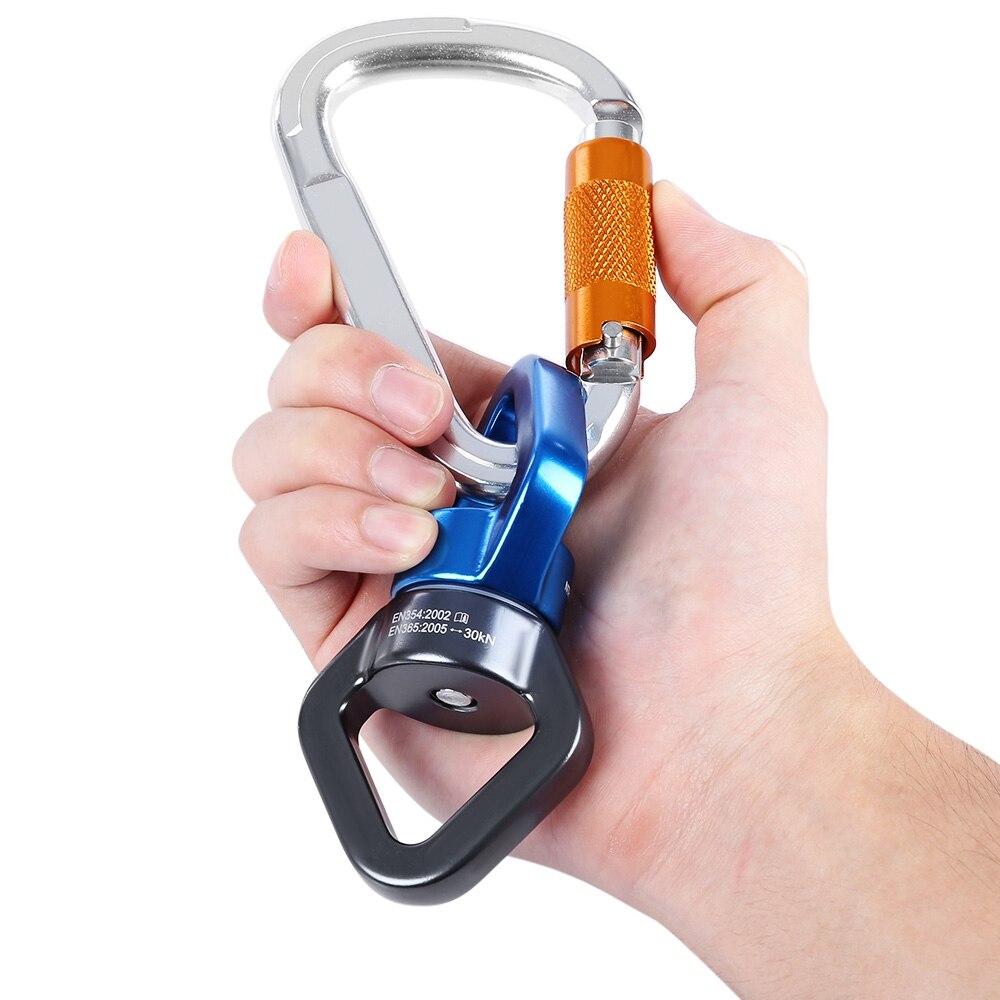 Gancho de mosquetón de aluminio profesional + conector de fijación - Camping y senderismo - foto 1