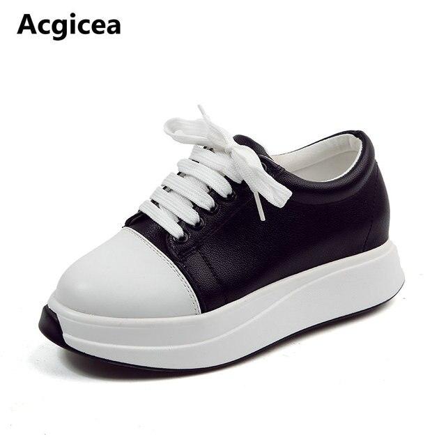 2b3a0aefc 2017 Nova Primavera Outono Mulheres Sapatos Para Mulher Tênis Bonito Super  Plataforma Senhoras Lazer Altura Crescente