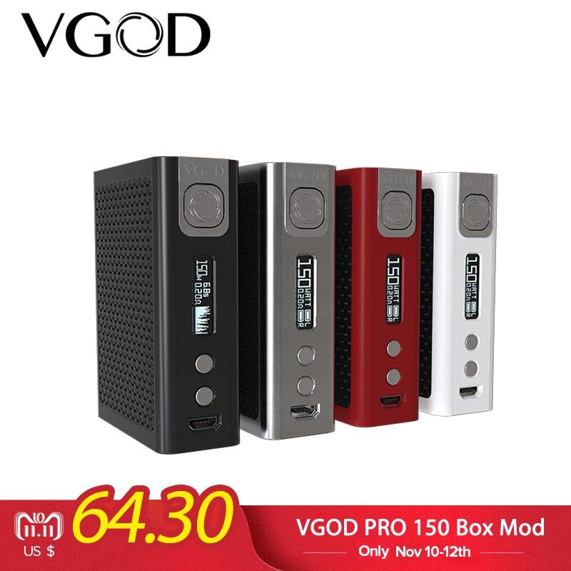 Originale VGOD PRO 150 TC Box Mod Col Fuoco nuvole 150 w sigaretta elettronica Mod Per 510 discussione RDA RDTA RBA serbatoio Atomizzatore Vapore