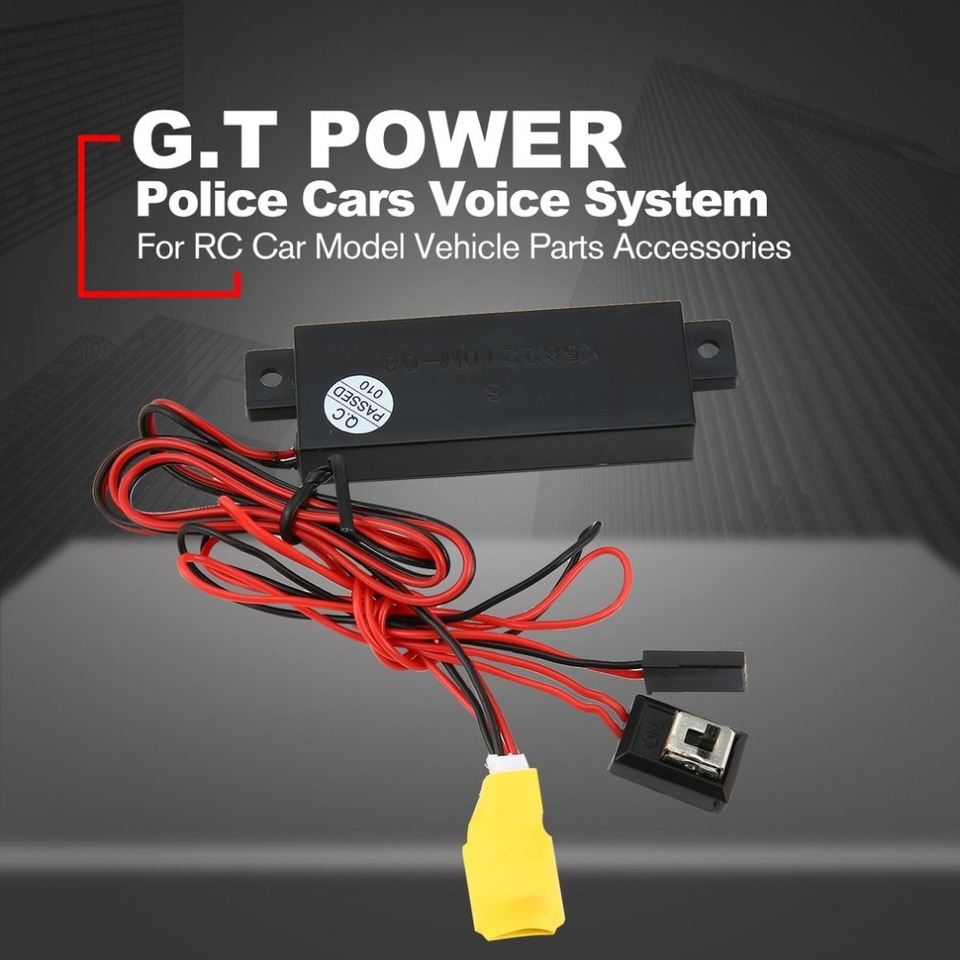 Contifan G.T Power RC Police Cop Cars Voice System Sound Simulator for RC Car Model