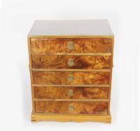 Ying Fu Ju Zhang red gold carving retro mirror box jewelry box makeup box Home Furnishing wedding ornaments