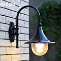 European Villa Waterproof Wall Lamp Outdoor Wall Light Rustic Sconces Outdoor Balcony Fashion Iron Speaker E27 LED Home Fixtures