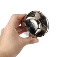 haicar косметические для женского макияжа мужские высокое качество нержавеющая сталь серебряная чаша чашка для бритья кисточки 180314 прямая доставка прямая поставка