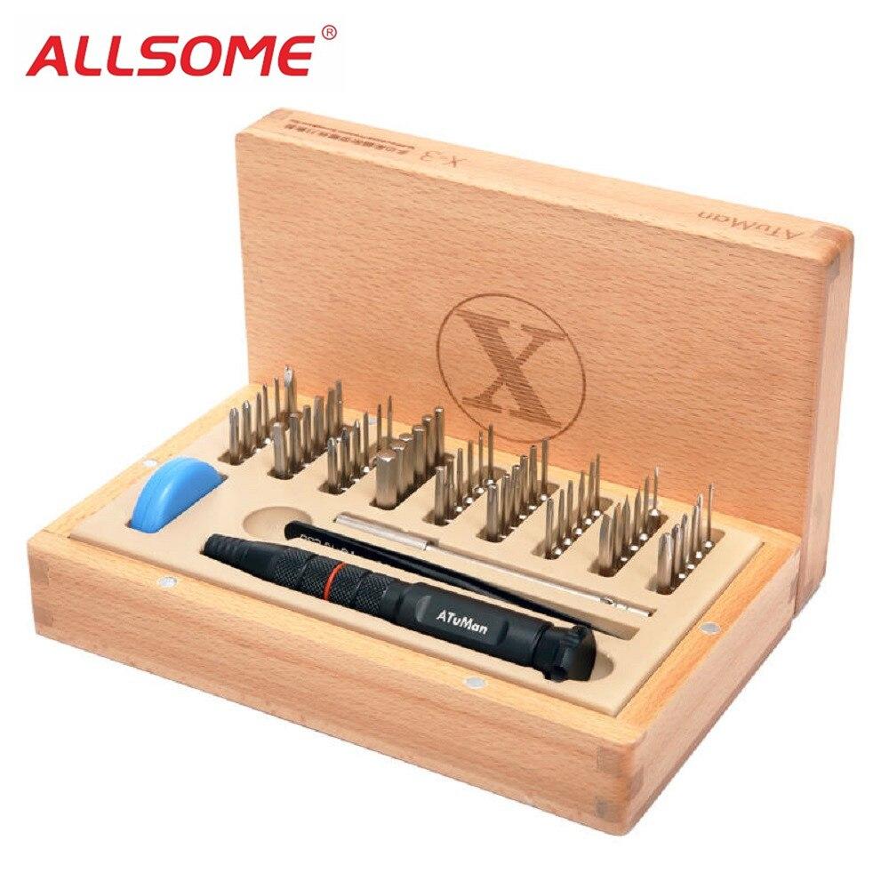 ALLSOME AtuMan X-3 58 en 1 multi-usages précision tournevis Set outils de réparation HT2244