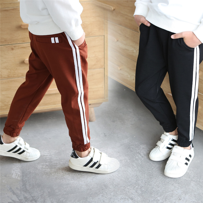 New 5-14Y High Quality Boys Girls Sports Spring Autumn Casual Pants Kids Soft Full Length Pants School Kids Trousers Track Pants 2018 kids clothes autumn spring boy casual plaid pants elastic waist school children full length trousers fashion big boys pants