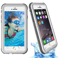 Waterproof PET Case For IPhone 6 6s Plus Case Full Frost Outdoor Sports Case For IPhone