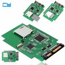 Standard SD SDHC MMC Memory Card to 7+15 Pin 22pin SATA Male Convertor Kit Adapter connector