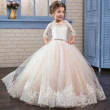 Новые пышные Детские платья для выпускного вечера с изображением