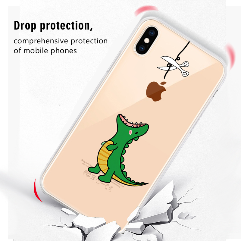 Soft Silicone TPU Cool Pattern Phone Shell For iPhone Models 12