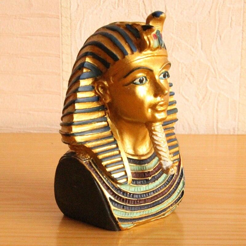 Harz alte ägyptische Pyramide Sarg Mumie Figur Skulptur Home Decor