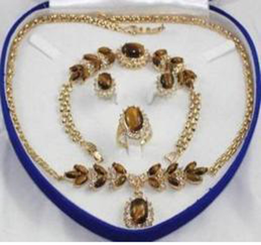 Новый свадебной моды Jewellery Для женщинs Цепочки и ожерелья браслет, серьги кольца больше цвета aaa154775