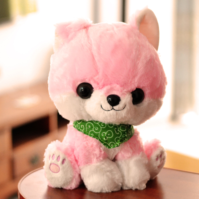 big plush pink sitting dog toy soft cartoon dog doll with scarf gift about 50cm jane ouma alternative approaches to pedagogy