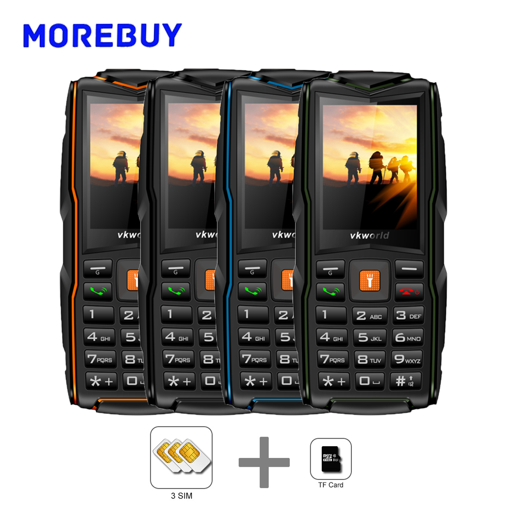 Vkworld New Stone V3 SC6531CA IP68 Water Duat Shock Proof 2 4 Inch Triple SIM Cards
