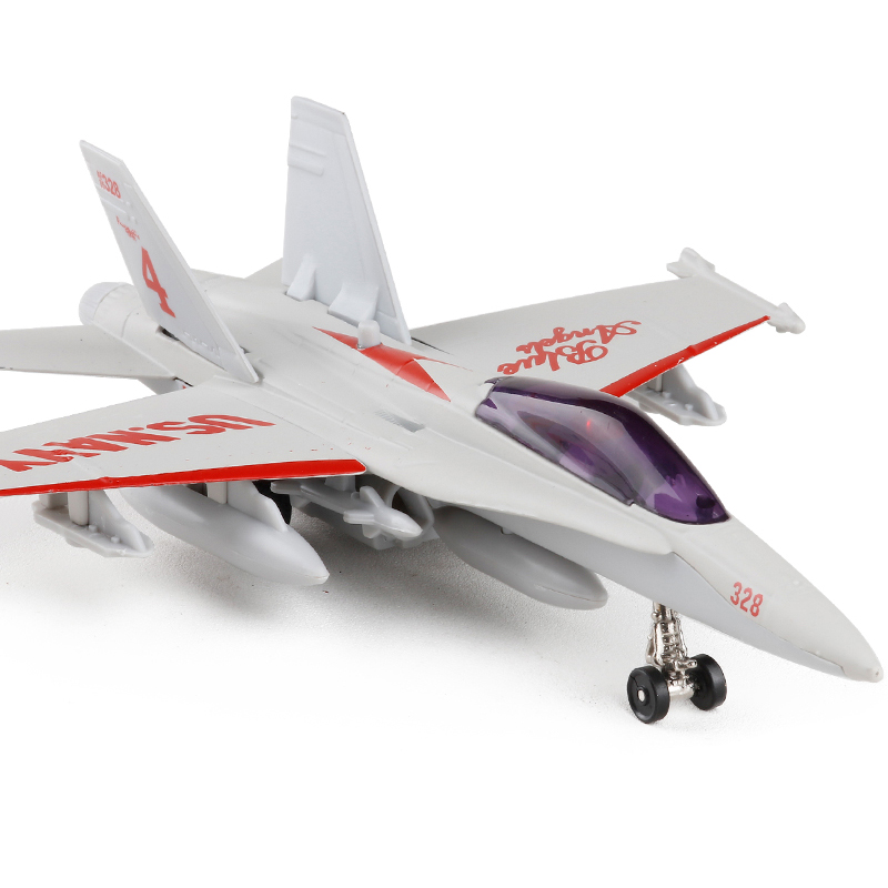 Alloy Diecast F-18 Hornet Fighter Kids Alloy Aircraft Model Sound and Light Pullback Metal Fighter Model Children Gift Toys
