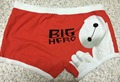 2017 High quality 100% cotton cartoon men's Boxer / men underwear big white