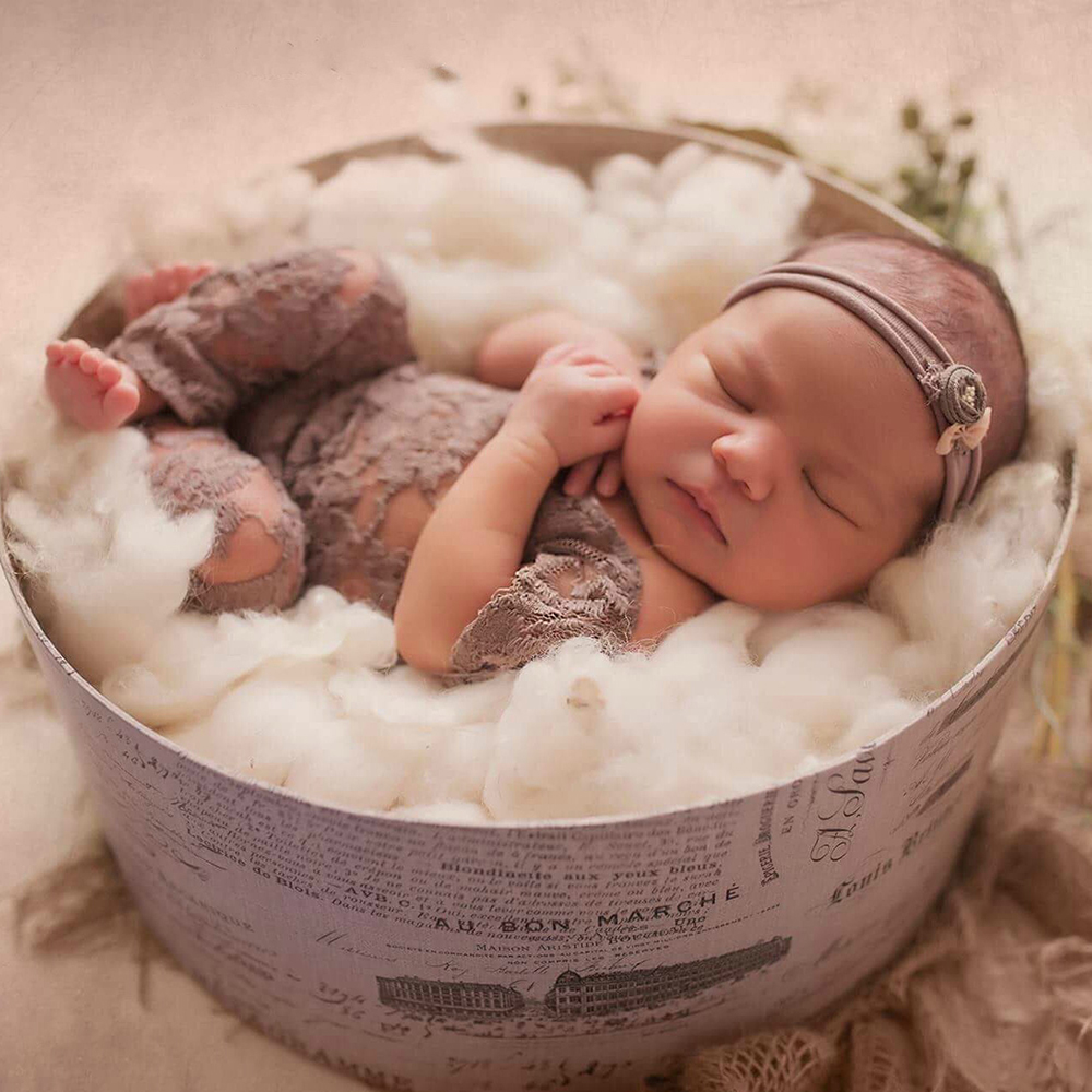 New Newborn Photography Props Baby Girl Flower Romper Infant Photo Shoot Clothes