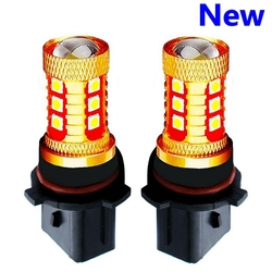 2PCS New P13W PSX26W Super Bright 15 SMD 3030 LED Auto Front Fog Lamp Car Daytime Running Light DRL Driving Bulb Xenon White