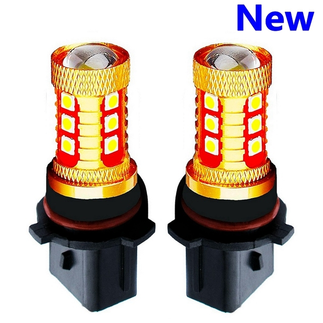 2PCS New P13W PSX26W Super Bright 15 SMD 3030 LED Auto Front Fog Lamp Car Daytime Running Light DRL Driving Bulb Xenon White