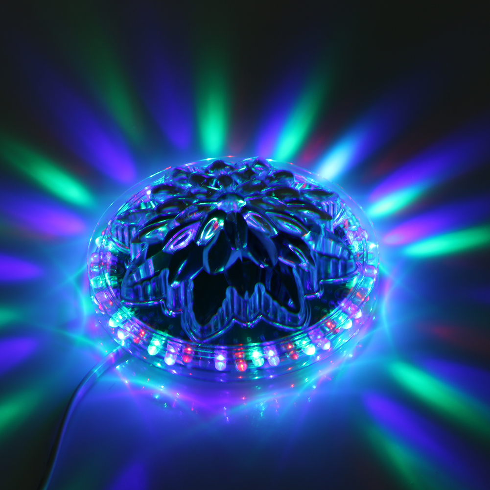 8~12W RGB LED Stage Light Crystal Magic Lighting Holiday Laser Projector New Year Party DJ Disco Stage Effect Light Lamp