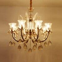 Роскошная люстра  осветительное приспособление для гостиной  спальни  люстры para quarto  свадебное украшение для отеля  большая светодиодная лю...