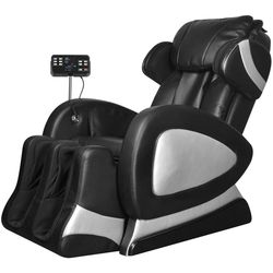 vidaXL Black Electric Artificial Leather Massage Chair with Super Screen