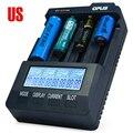 Opus bt-c3100 v2.2 inteligente lcd universal li-ion nicd nimh aa aaa 10440 14500 26650 18650 carregador de bateria eua adaptador
