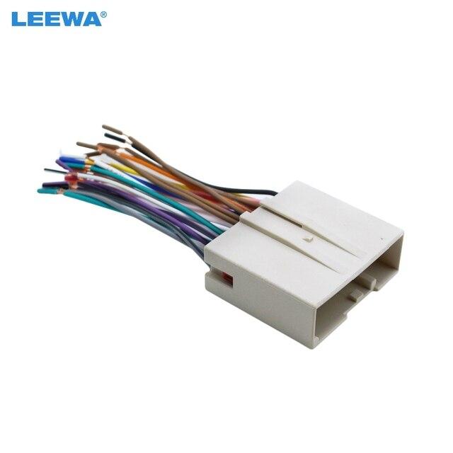 LEEWA Car Radio CD Player Wiring Harness Audio Stereo Wire Adapter – Lincoln Blackwood Radio Wiring