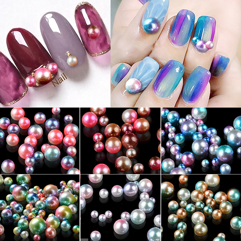 10 Pcs Crystal Glass Multi color Top Tourmaline Nail Rhinestones ...