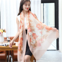 top grade 100%goat cashmere printed women fashion thin scarfs shawl pashmina 70x200cm small tassel