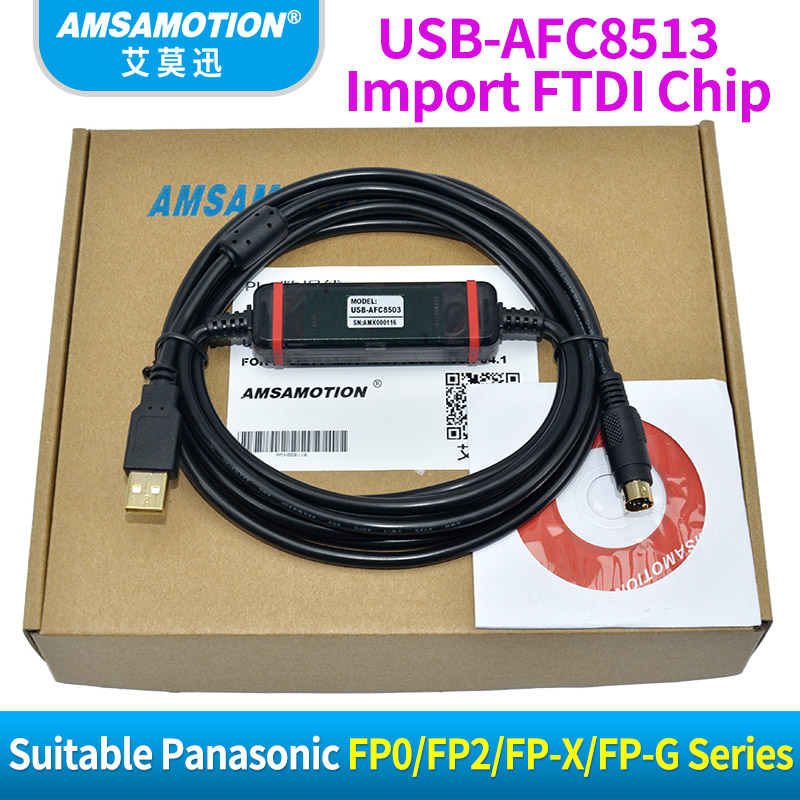 цены Suitable Panasonic PLC Programming Cable FP0 FP2 FP-X FP-G Series Download Cable USB-AFC8513