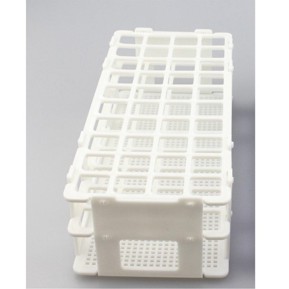 პლასტმასის ტესტის მილის თაროს დიამეტრის 16 20 მმ ტესტის მილები, 40 ჭაბურღილი, თეთრი, ამოღება (40 ხვრელი), მილის ყუთი.