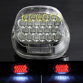 Clear LED Tail Brake Light Motorcycles Taillights for harley Dyan Softail Sportster XL FLH FX 1999-UP