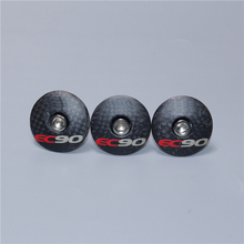 EC90 headset top cap Full Carbon Fiber Leather Cover Best Bicycle Stem Headset Cover MTB Bike Parts 6 g