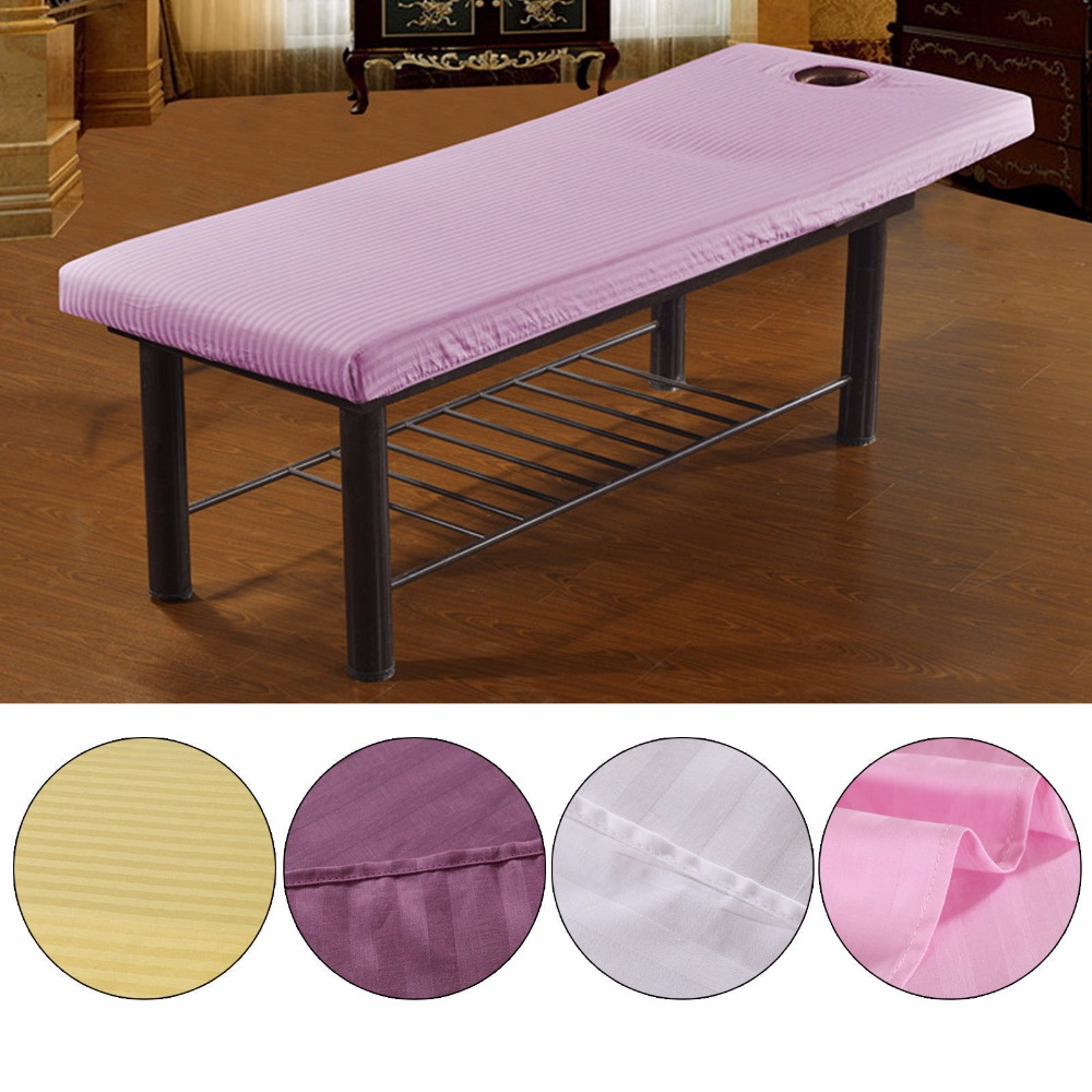 U.TECH Beautiful Massage Bed Table Cotton Cover Salon Spa Couch Sheet Bedding With Hole ...