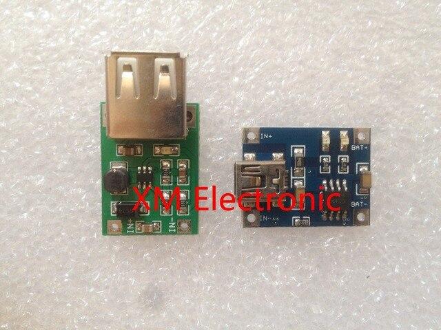 0.9V~5V 600MA USB Output charger Mini DC-DC Boost Converter + TP4056 1A Lipo Battery Charger Module lithium battery DIY Mini USB