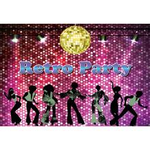 Laeacco Vinyl Backgrounds Retro Disco Party Dancing Shiny Spotlight Ball Stage Portrait Photography Backdrops For Photo Shoot