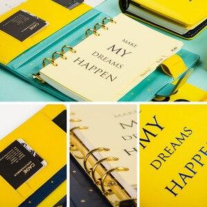 Image 5 - Planer Notebook A6 2019 2020 Agenda notes harmonogram organizator Binder notatnik Plan papier przenośny notatnik biuro Memo Student