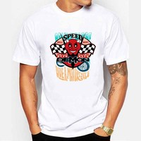 Newest 2017 men's fashion motorcycle Speed Demon short sleeve printed t-shirt funny tee shirts Cool Tops